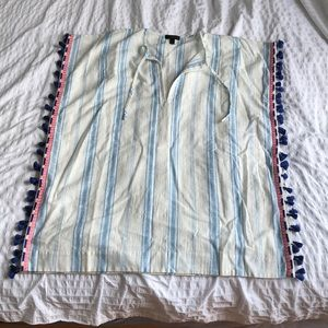 Brand new J. Crew short caftan w/ embroidery